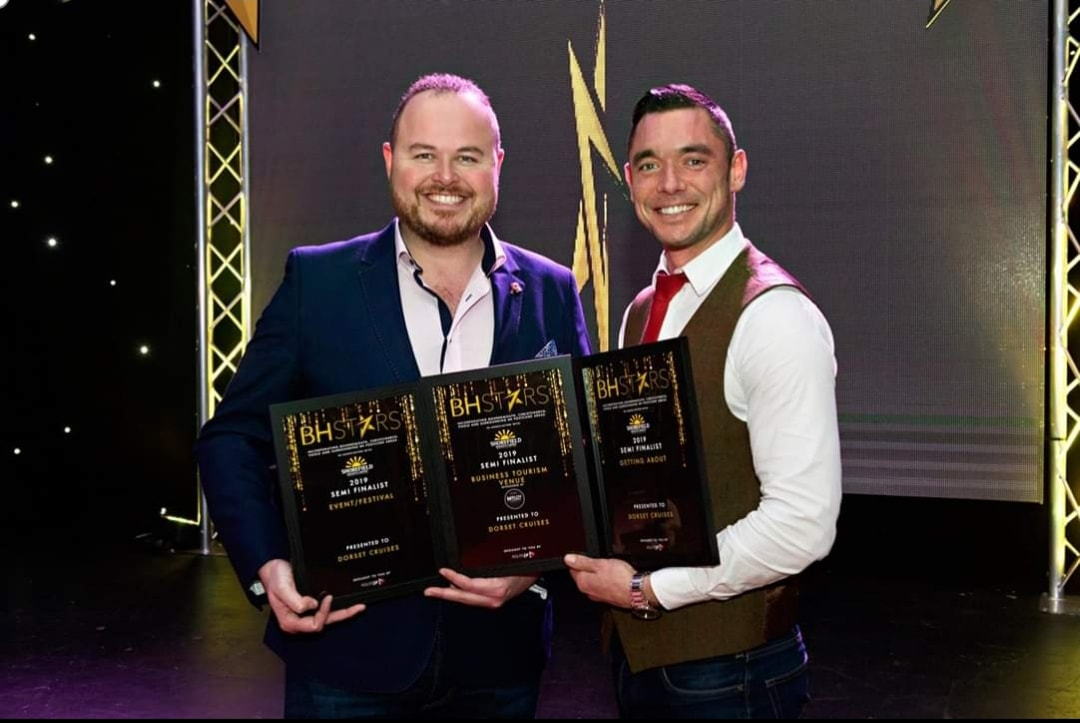 Dorset Cruises owners, Mike Corica & Jon Morgan, at the BH Stars Awards 2019