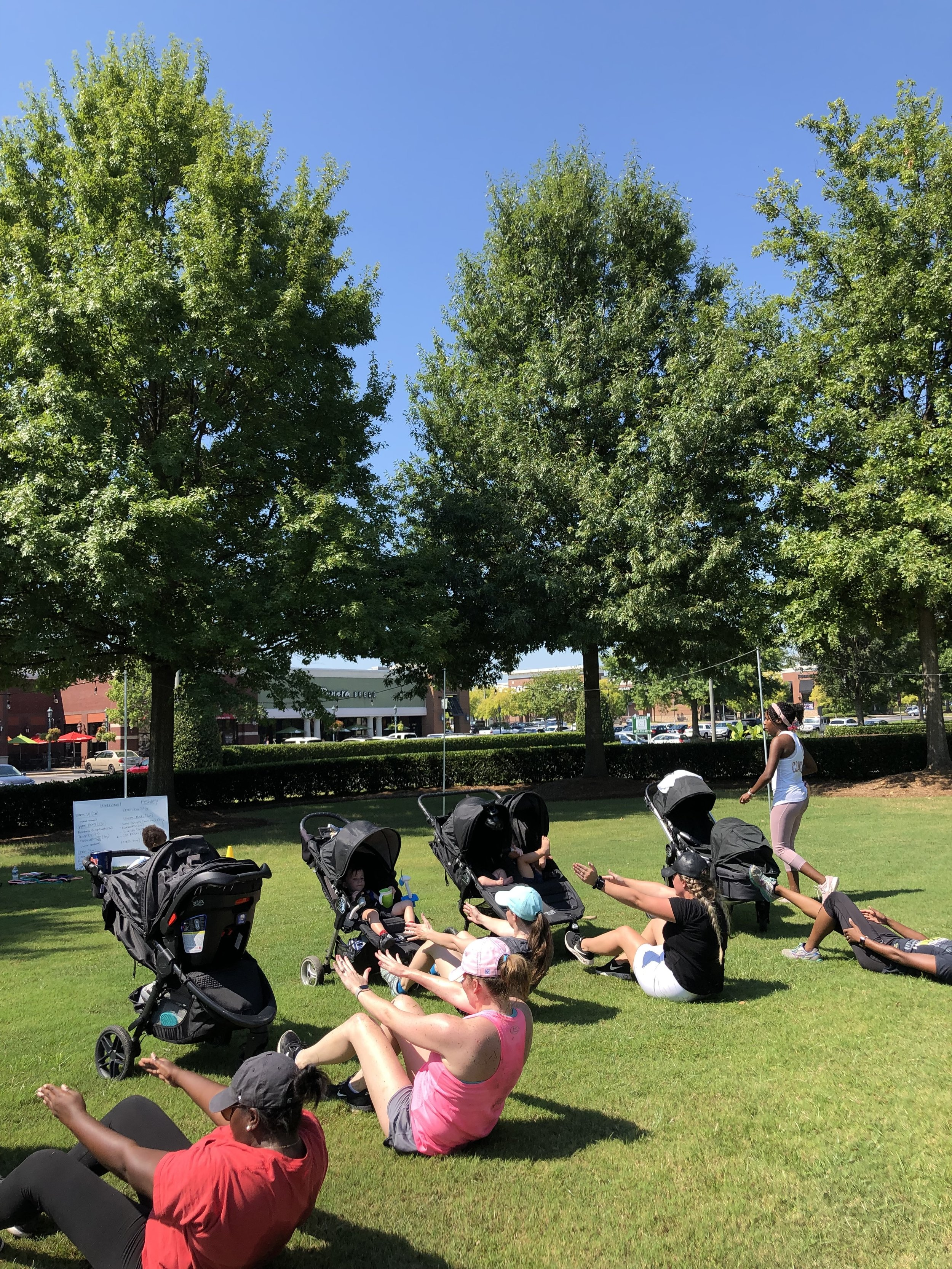 """Stroller, Bootcamp, & Diastasis Recti Classes - Tired of trying to lose your belly pouch all on your own?Is that extra 10,15, or 20 pounds not getting the hint that it's time to leave, or is the ab and pelvic pain that you are feeling making it hard for you to get your every day tasks done?Well, then it might just be time for you to reserve your spot in one of the """"Simply Fit Stroller Classes"""", """"Body By Mommy Bootcamp Classes"""", or in the """"Diastasis Recti Lab.""""You NO longer have to try to get fit alone and without support Mama!(3) 60-minute workouts that are comprised of strength training, cardio, core strengthening exercises, and Diastasis Recti repair programming.You'll leave these classes feeling energized and with a sense of accomplishment!Come and join our mighty Mama """"crew!""""Sign up for your class time below!"""