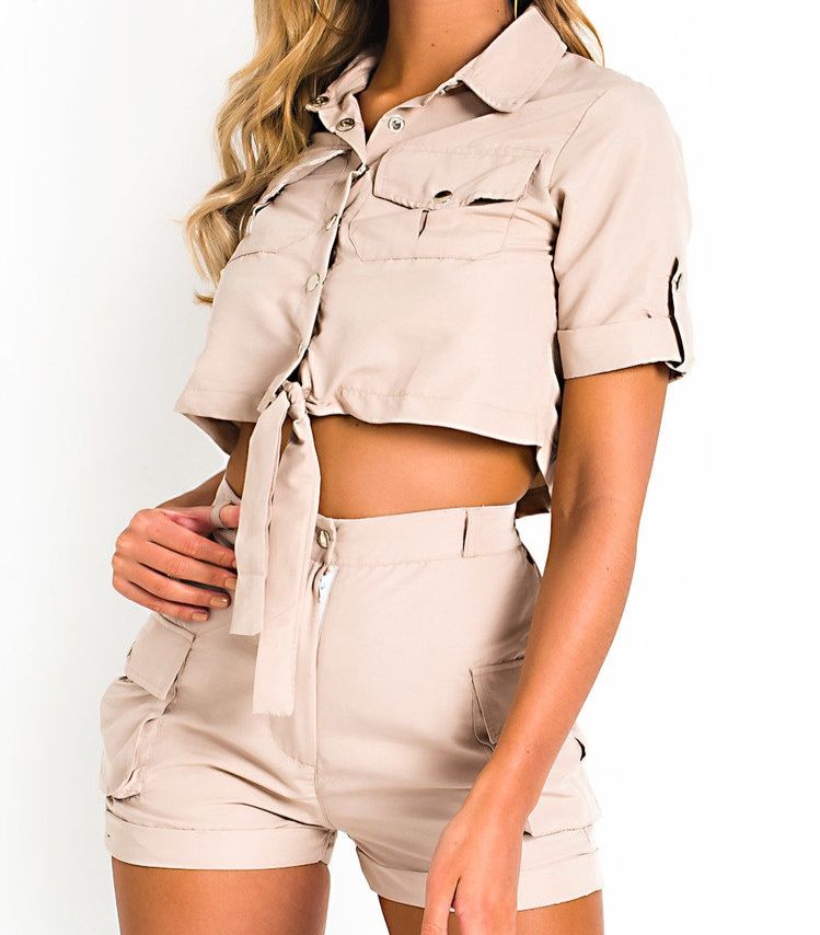 Cargo Shirt and Shorts Co-Ord in Stone - I love co-ords because you can often get 2 items for the price of one. If they come as a set then you're winning! This may not be everyones taste, but I thought this co-ord was very pretty and would be perfect if you have any festivals this summer. I would suggest going up a size in this as the model wears a size 8 and I would prefer the shorts to be a little less fitted. You could also open the shirt and wear a cute bralette or crop top underneath.
