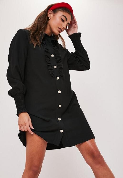 black-button-through-ruffle-shirt-dress.jpg