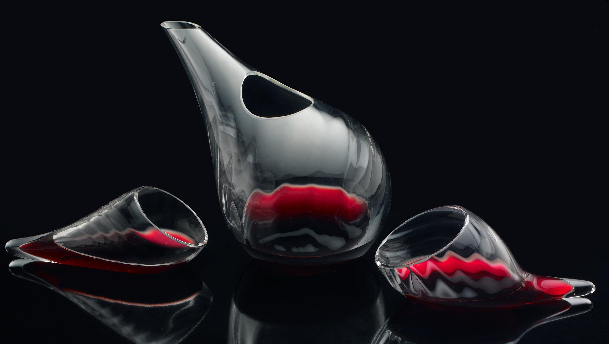 Drops of wine, blown in Murano, Venice