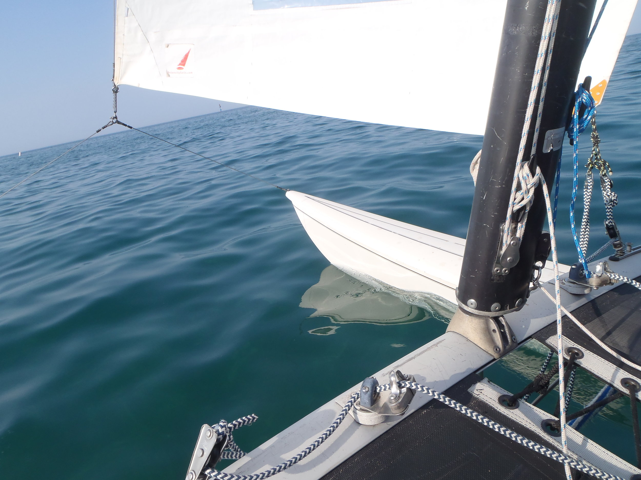 Full Sails Ahead - Sailing on Lake Michigan. Photo: Emily George