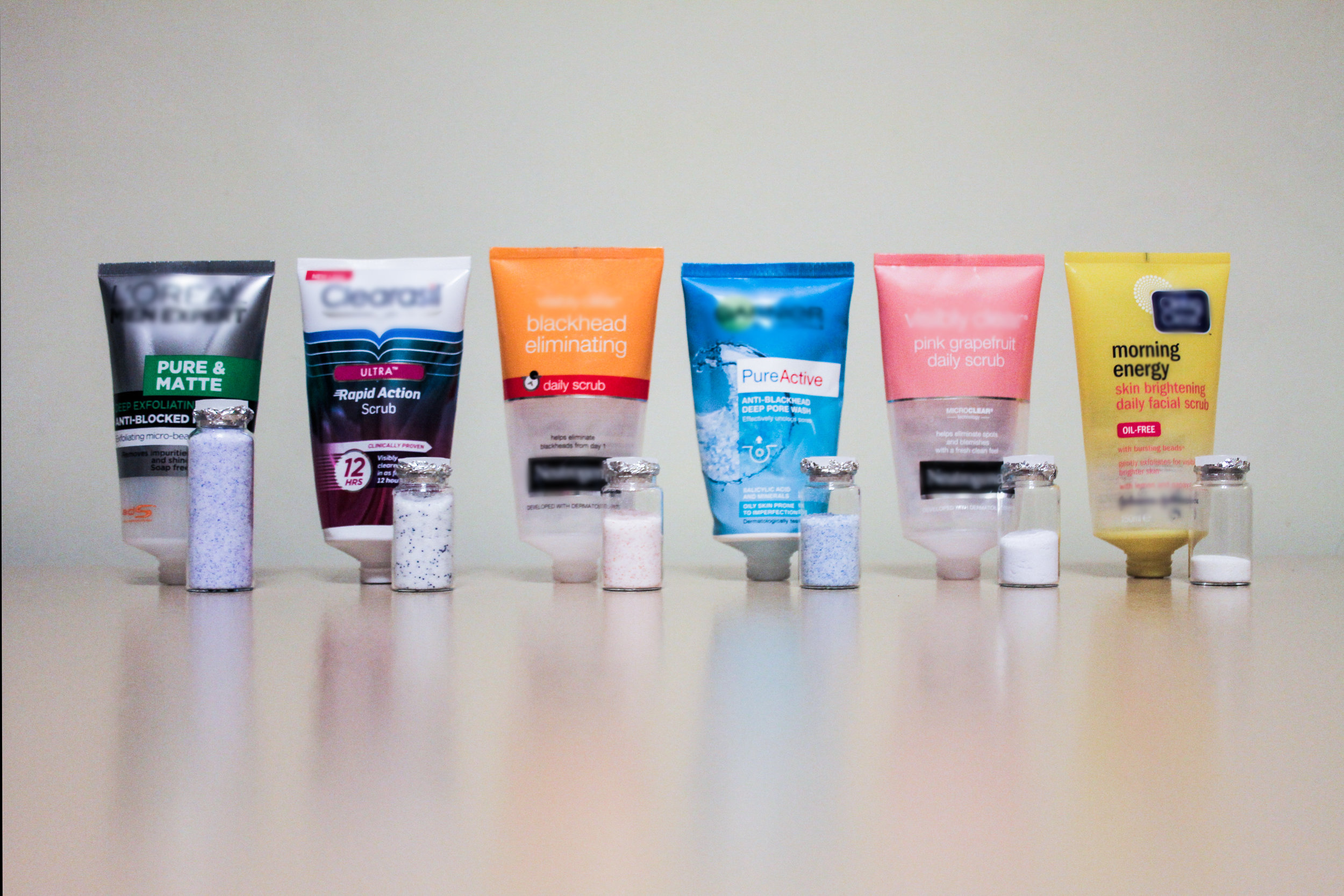 Microbeads extracted from main brand facial scrubs before they were banned in the U.K. Photo: Imogen Napper