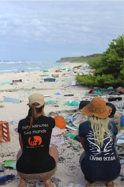 Plastic littering the beach at Henderson Island. Photo: Alice Forrest