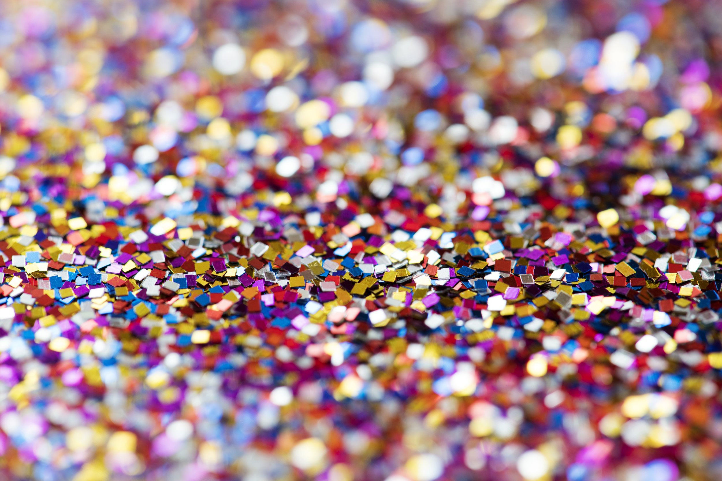 Glitter is a microplastic, that typically gets washed down the drain. Photo: Pixabay