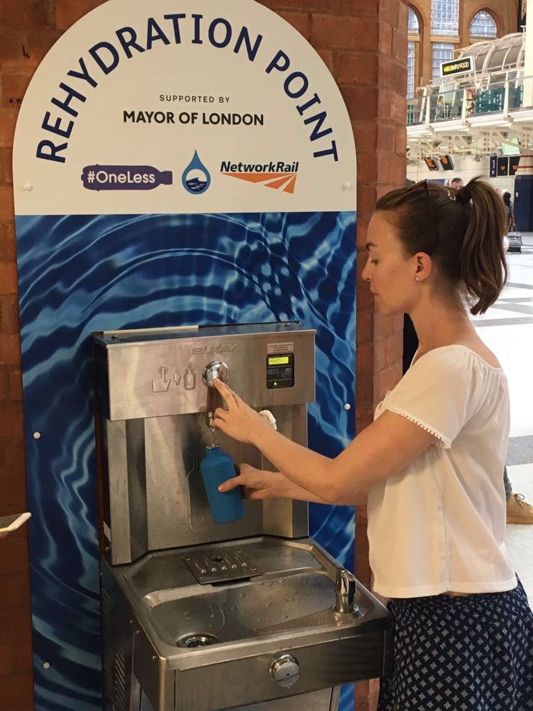 Drinking fountains and refill stations have been installed all over London. Photo: ZSL - Rachel Shairp