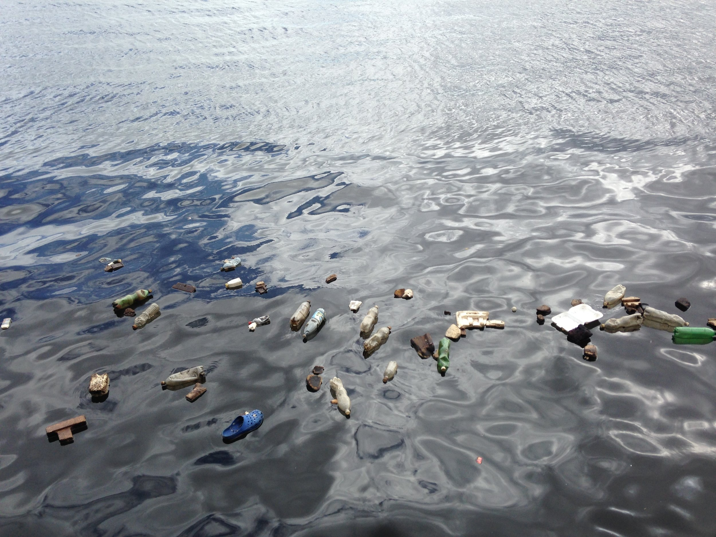As plastic is generally buoyant, it floats at the surface, carried by wind, waves and currents. Photo: Pixabay.