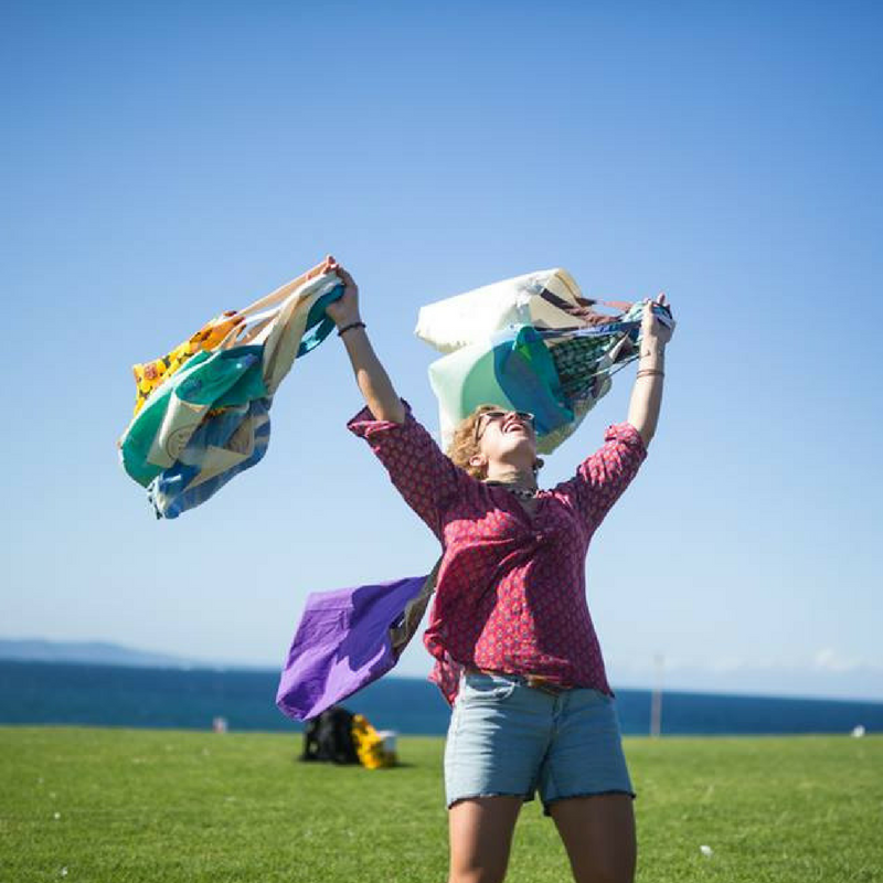 That feeling when you finally remember to bring your reusable bags to the store. Photo: Boomerang Bags