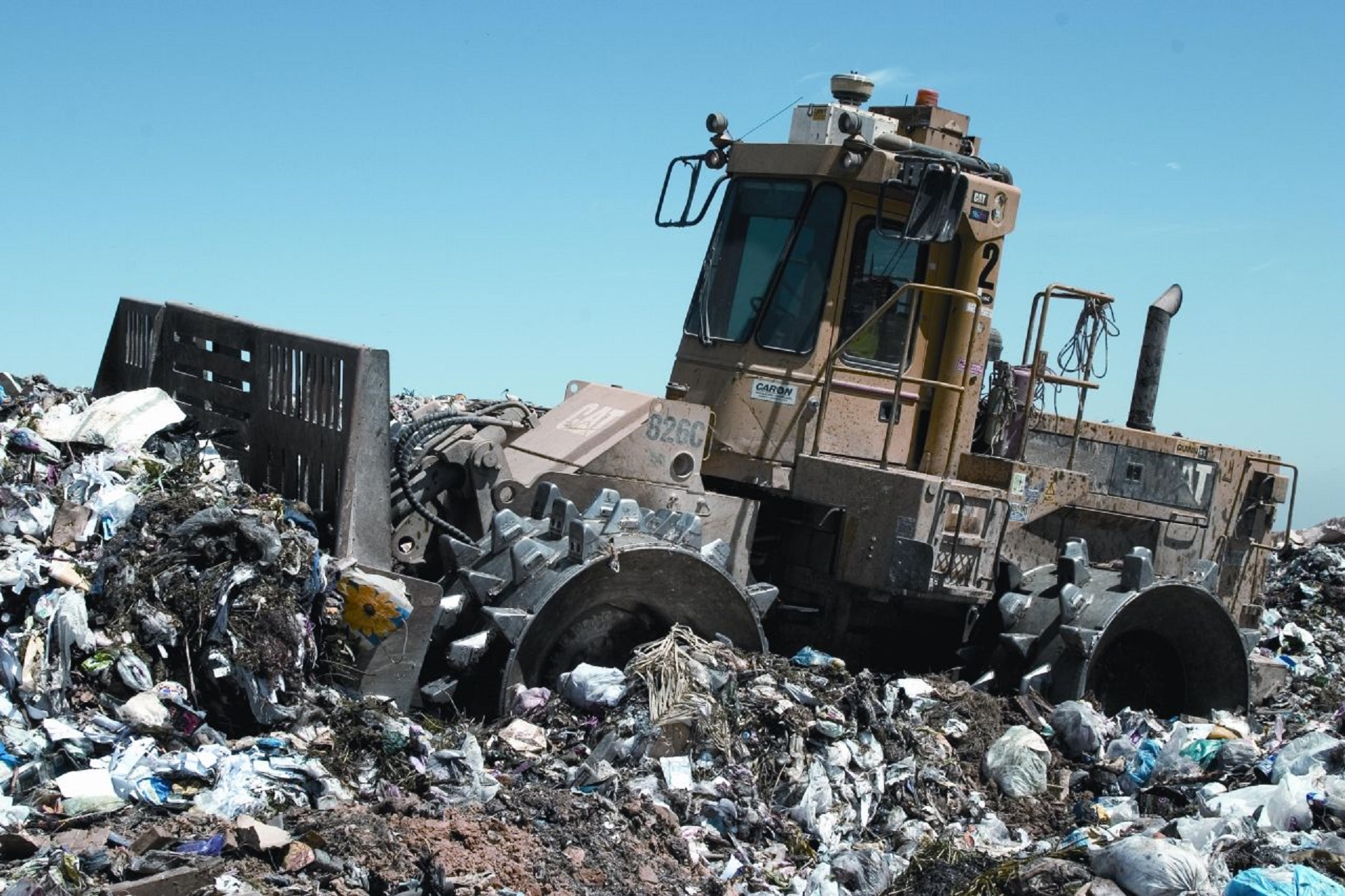 The conditions in landfill sites are typically not favourable for degradation. Photo: Pixabay