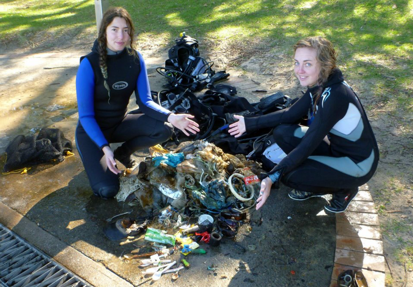 Alice with her haul after a dive in Sydney. Photo: Alice Forrest