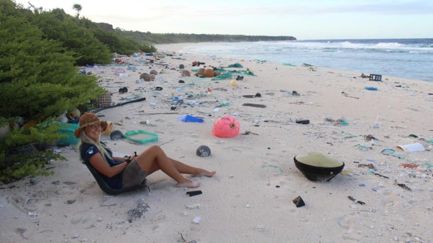 Plastic washes up on shorelines around the globe. Photo: Alice Forrest