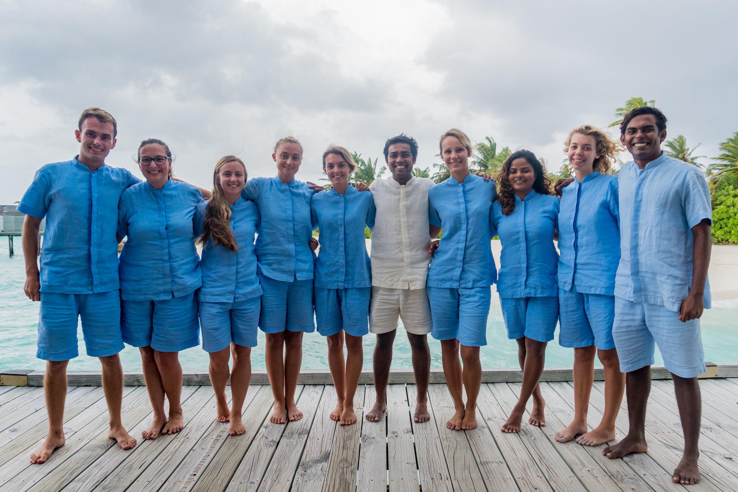 The team at Maldives Underwater Initiative. Photo: Tash Prokop
