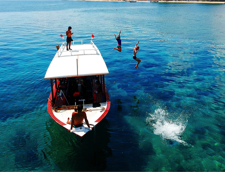Tourism is a vital part of the economy on the Gilli Islands. Photo: Gili Shark Conservation