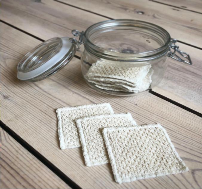 Reusable cotton pads. Photo: Katie Wales