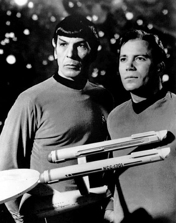 William Shatner and Leonard Nimoy. Pixabay