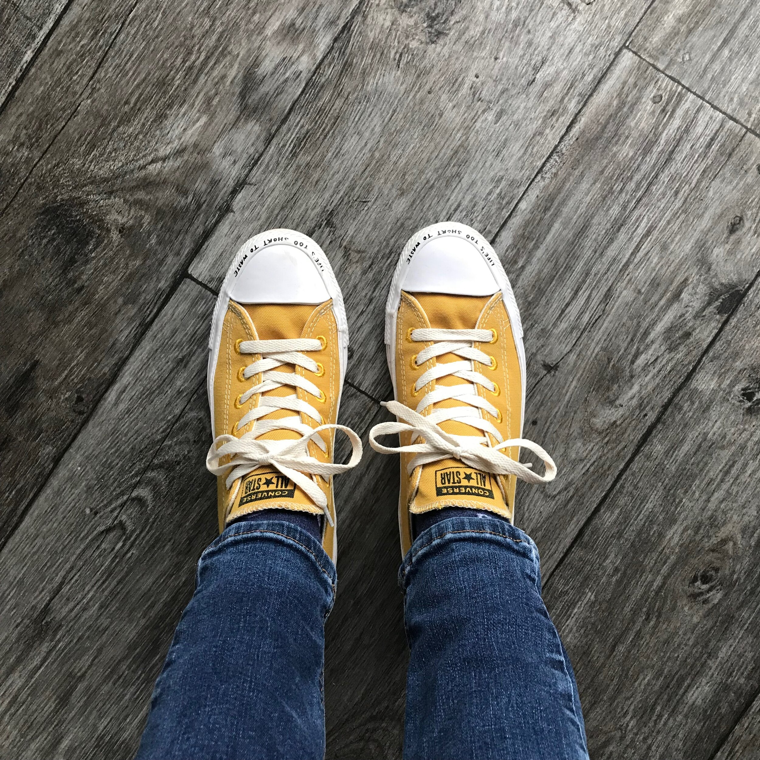 """My converse!! Ft """"Life's too short to waste"""". Photo: Jennifer Thomson"""