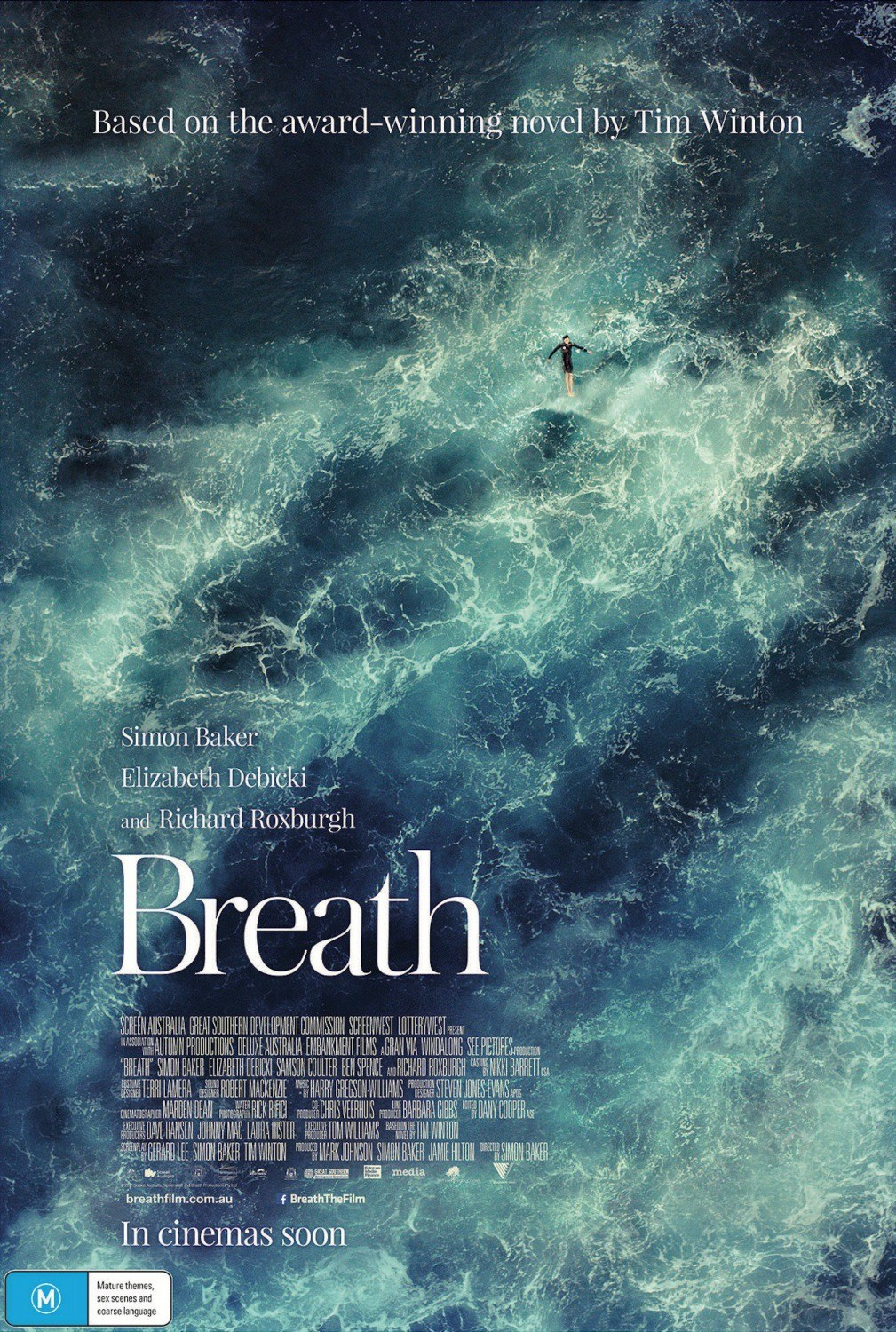 Breath - Directed by Simon BakerWritten by Gerard Lee and Simon Baker, based on a novel by Tim WintonWith Simon Baker, Ben Spence, Samson Coulter…