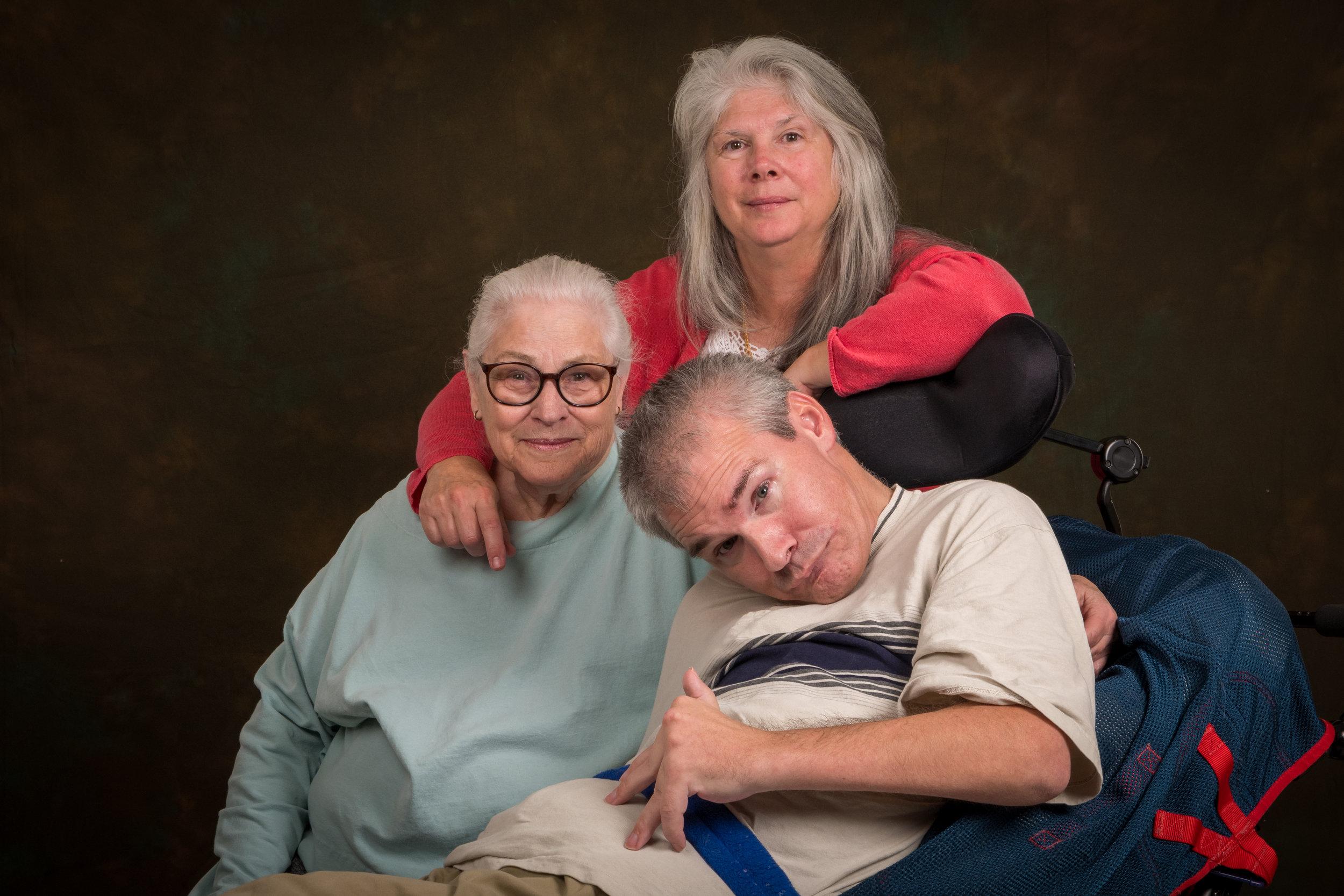 Nick and his mother Kathy and sister Teresa