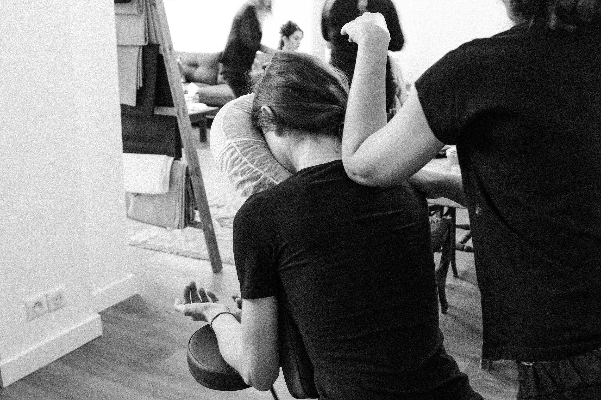 BIEN-ÊTRE - Des spécialistes en massage Amma sur chaise (notre best seller) mais également des experts en réflexologie, shiatsu, do in, qi gong, méditation et sophrologie.