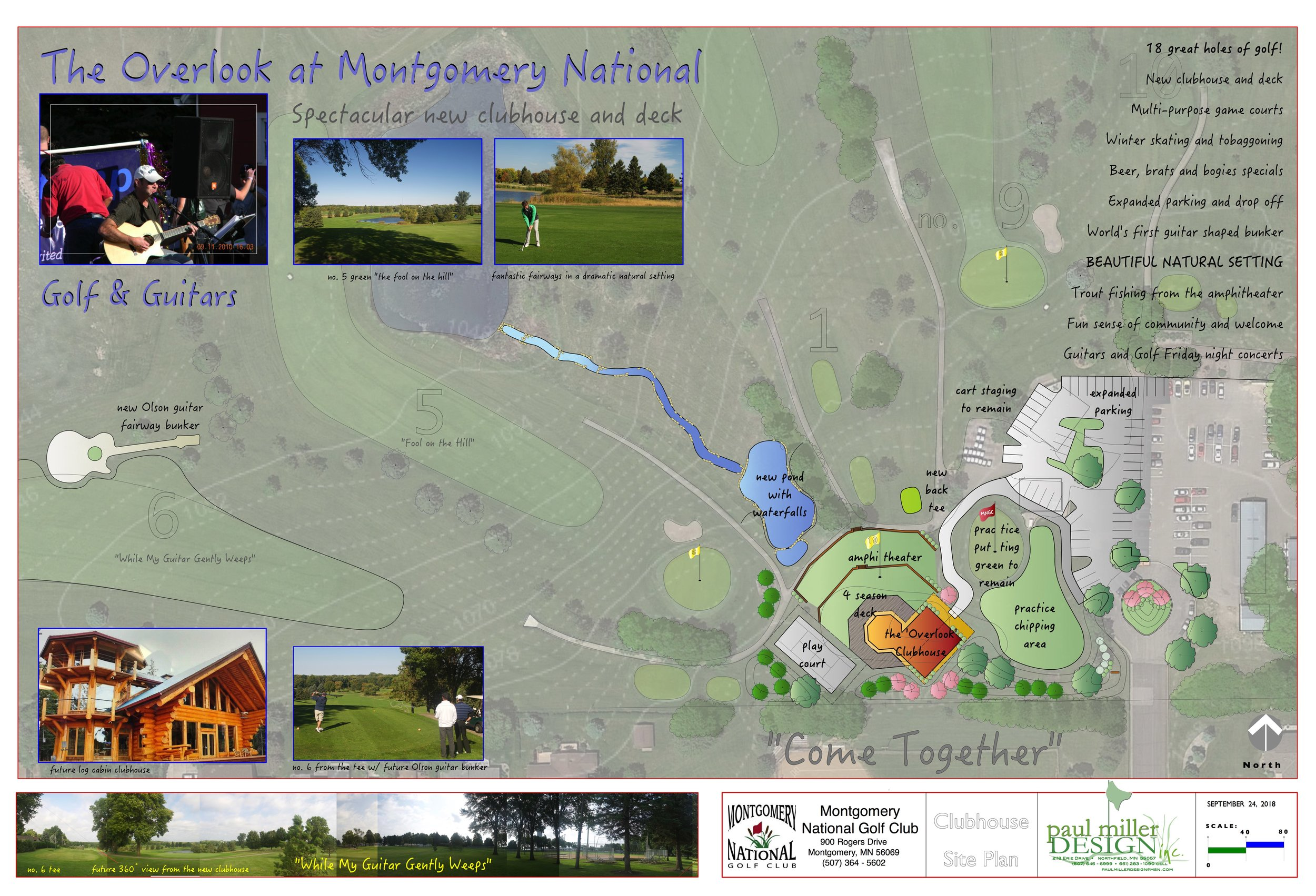We want to be so much more than just a great golf course. We want to be the place you enjoy spending time with family and friends. Plans are underway for a spectacular new clubhouse, amphitheater, multi-purpose game courts and more!