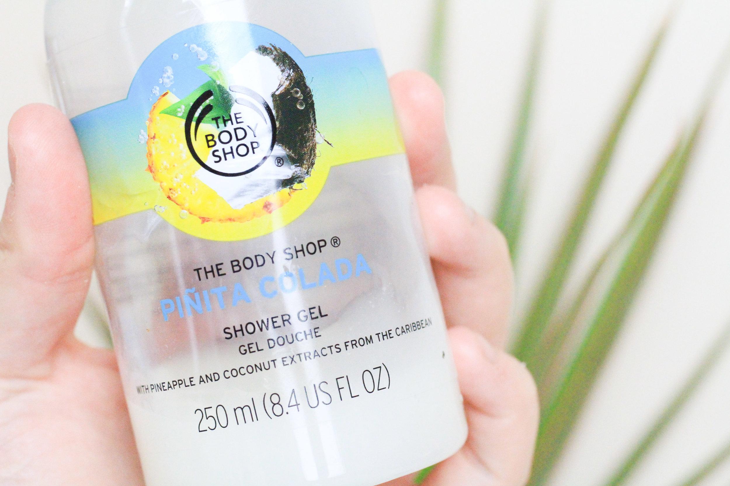 Shower Routine Zero Waste The Body Shop Pinita Colada Shower Gel