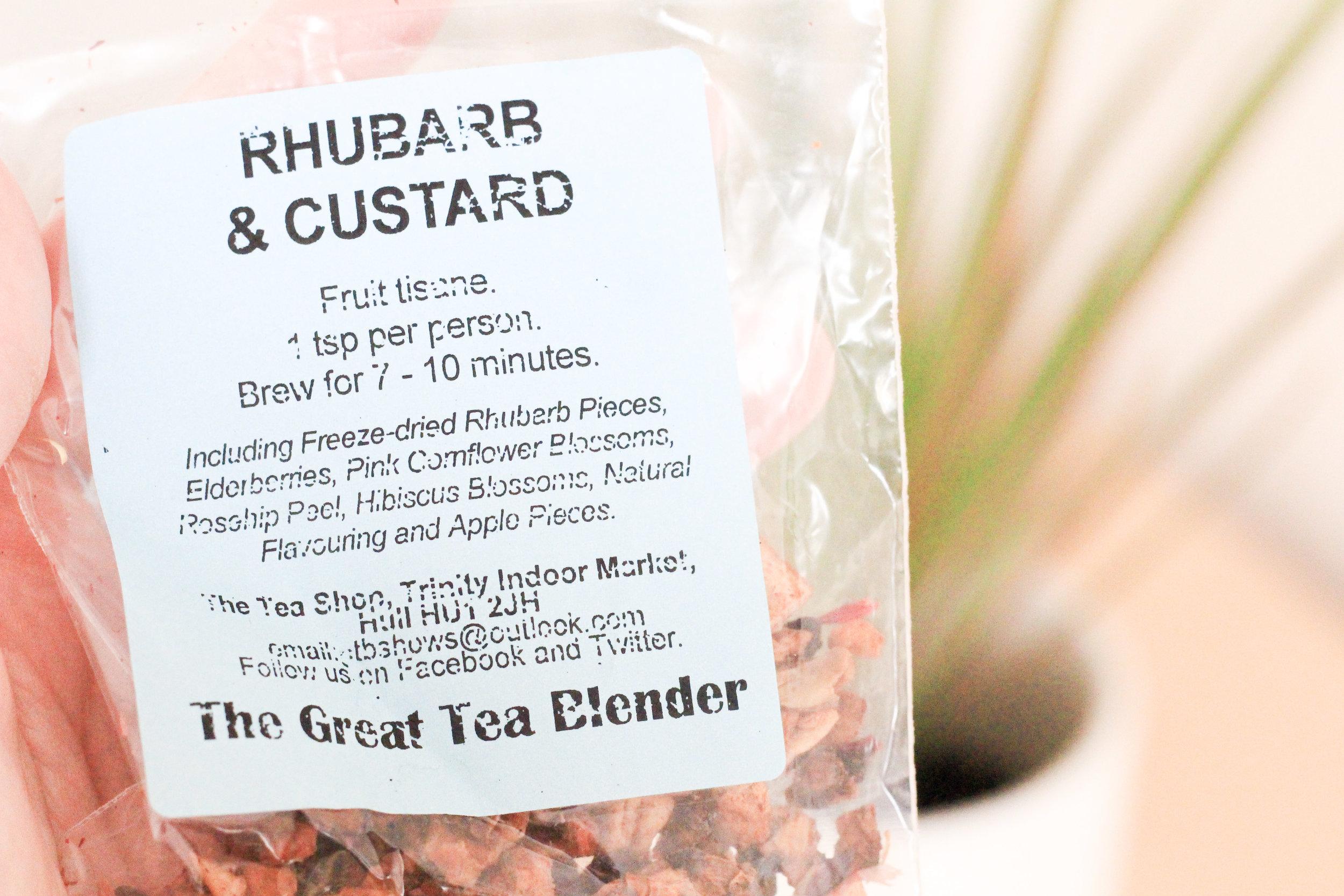 The Tea Room Hull Rhubarb and Custard