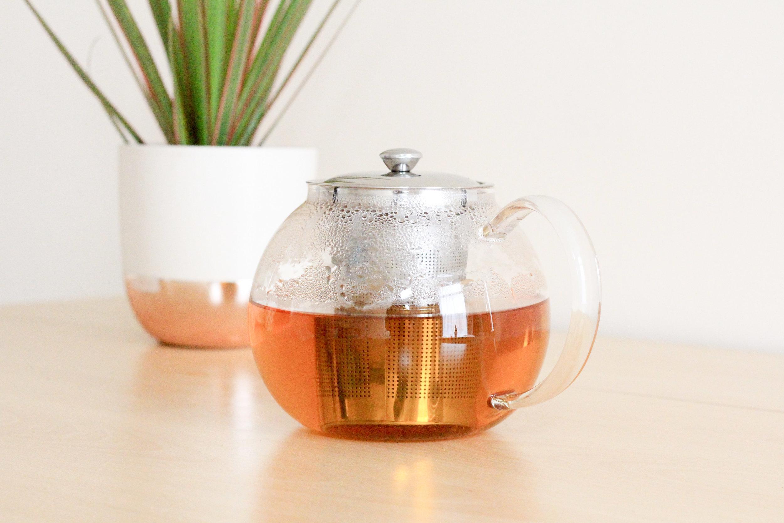 Title Image: The Tea Room Hull Glass Tea Pot Loose Leaf Tea