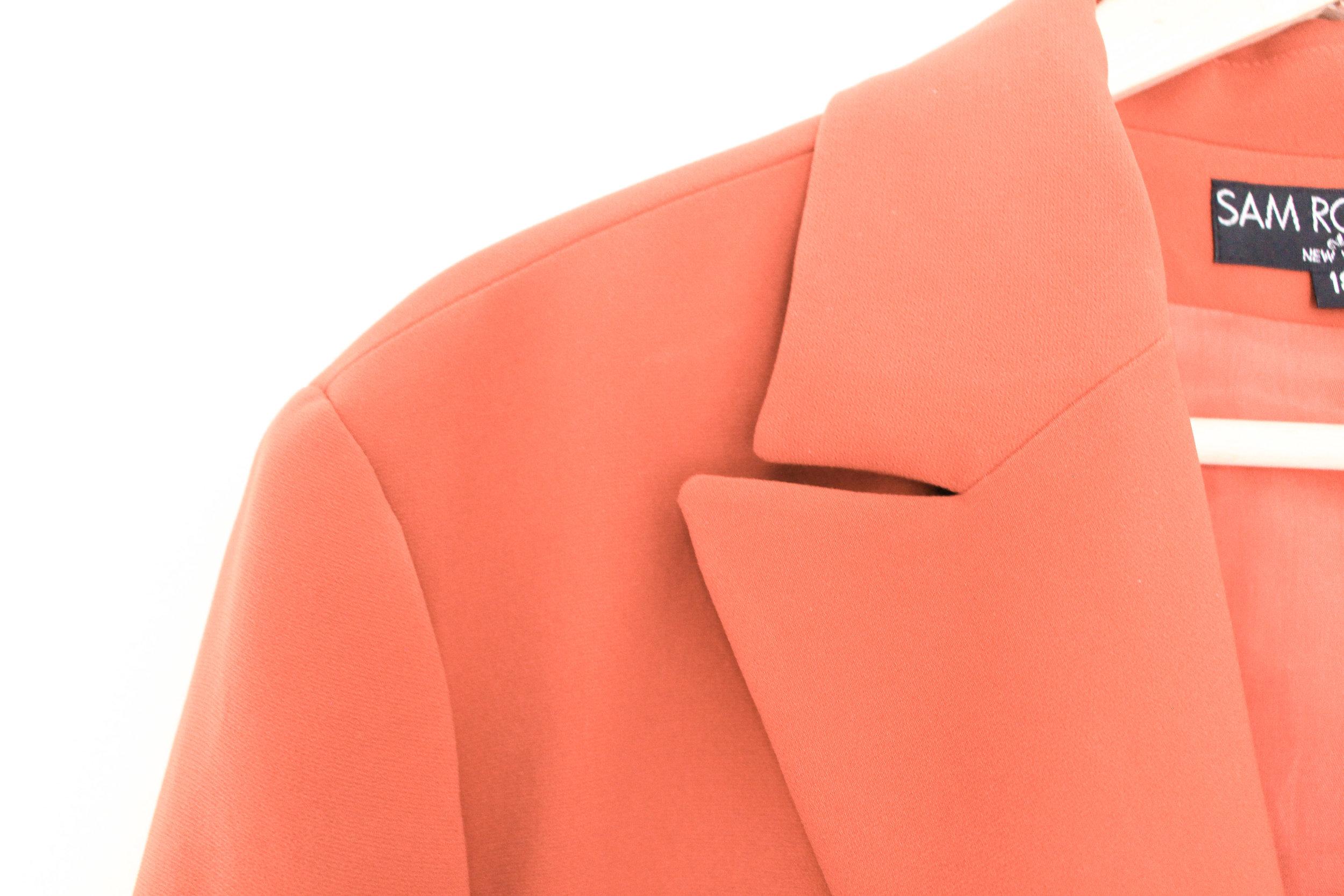 VOLD Fashion Vintage and Retro 90s Orange Blazer Review