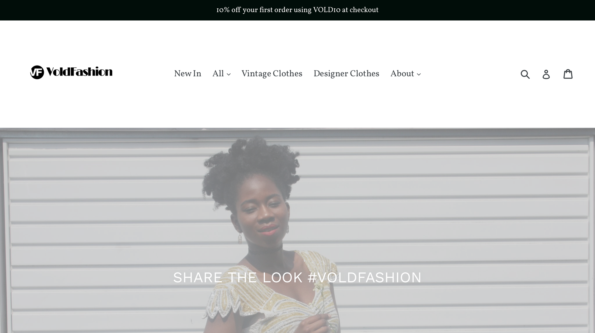A Screenshot of the VOLD Fashion Website