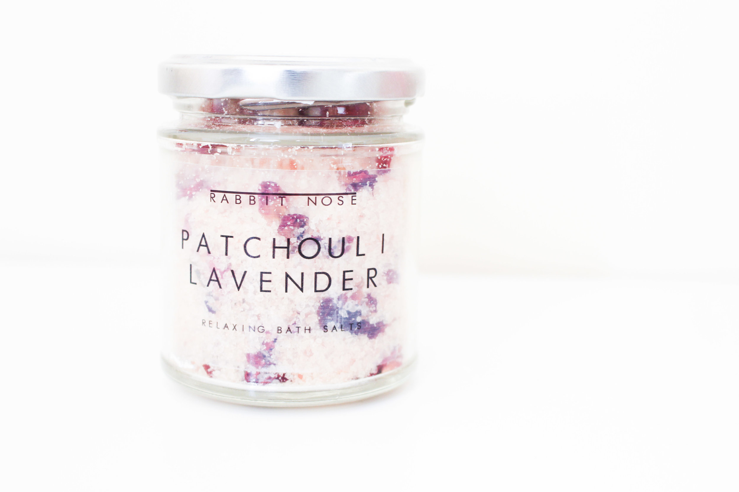 Rabbit Nose Apothecary Patchouli and Lavender Relaxing Bath Salts