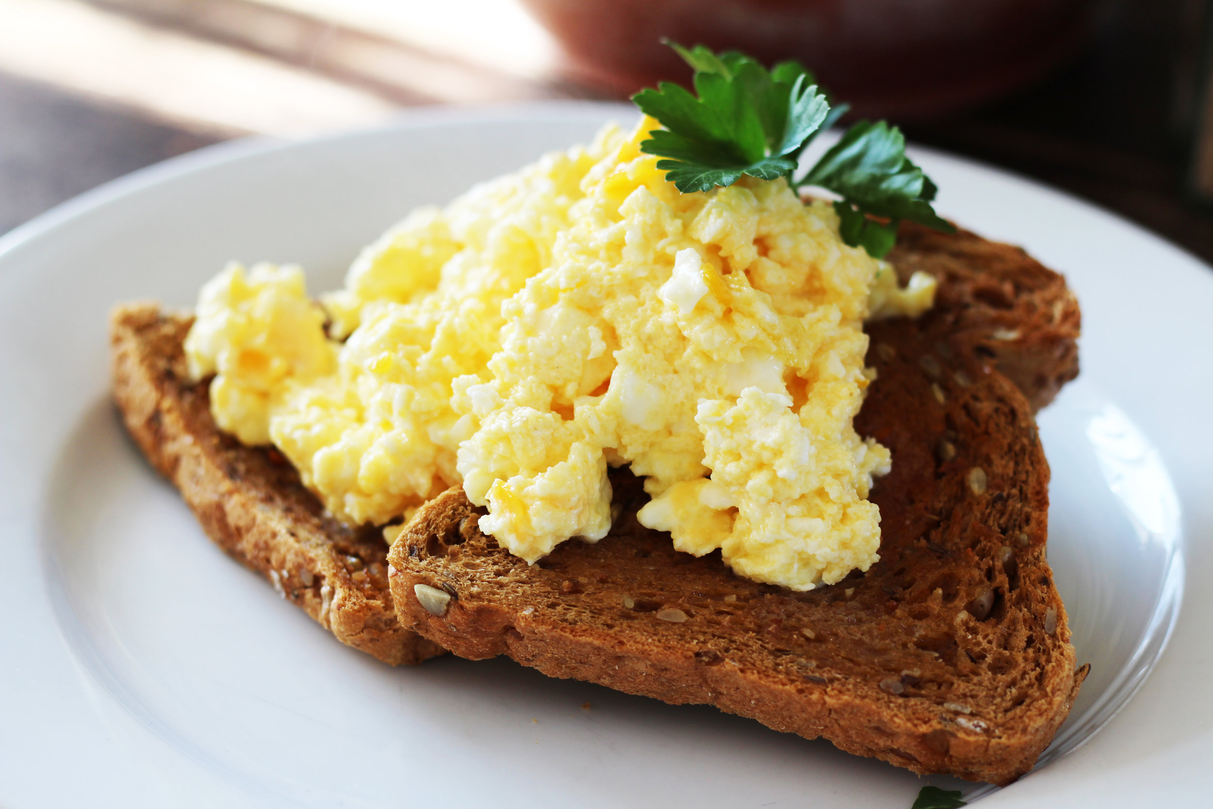 Not exactly revolutionary but scrambled eggs on seeded toast - yaaas.