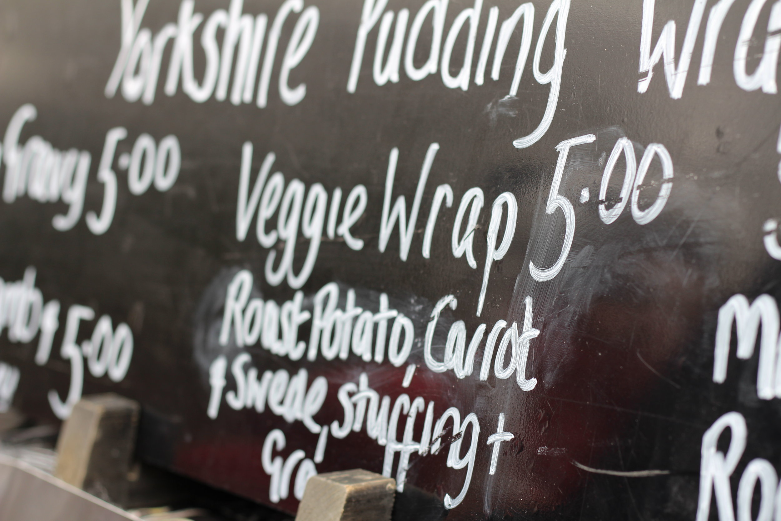 Veggie Yorkshire Pudding Wrap - The veg version had more stuff in it than my boyfriend's lamb one!