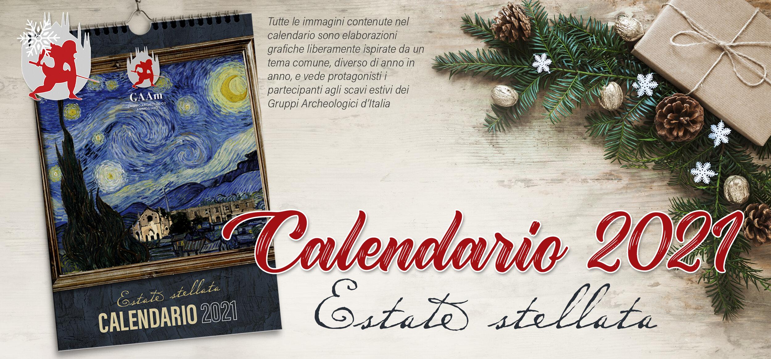 Natale 2021 Calendario.Natale Gaam 2020 Calendario 2021 Gruppo Archeologico Ambrosiano