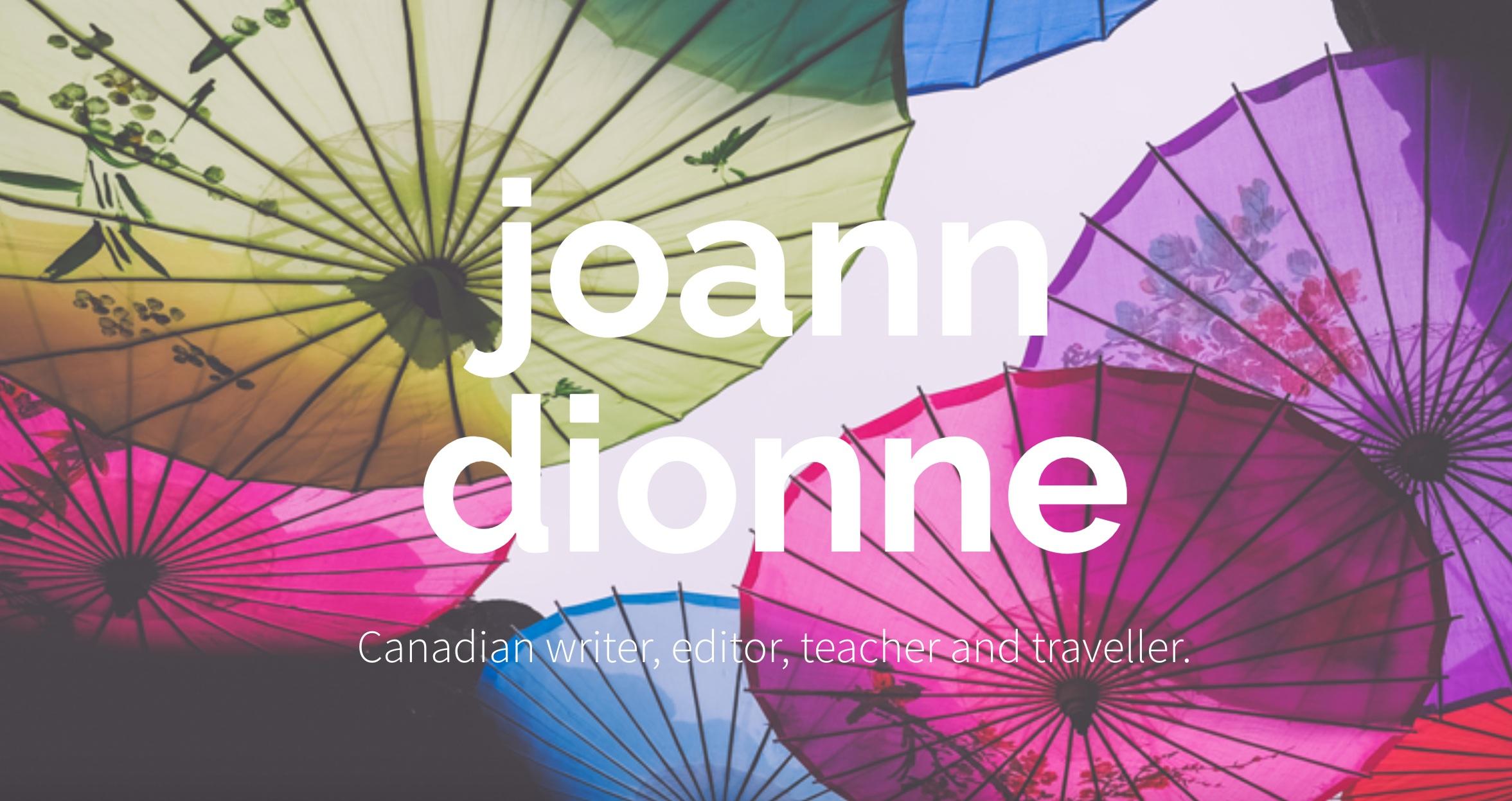 Website design for Canadian author, JoAnn Dionne