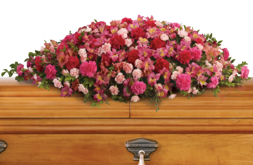 A Life Loved Casket Spray    As a tribute to a special person who has passed, this magnificent cascade of pink floral favorites is a radiant testament of profound and lasting love.    Shop Now>>