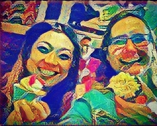AI Style Transfer of delegates' selfies from the recent Anthropology and Technology Conference in Bristol. #creativity #joymaking #AIcupcakes #TinyGiant