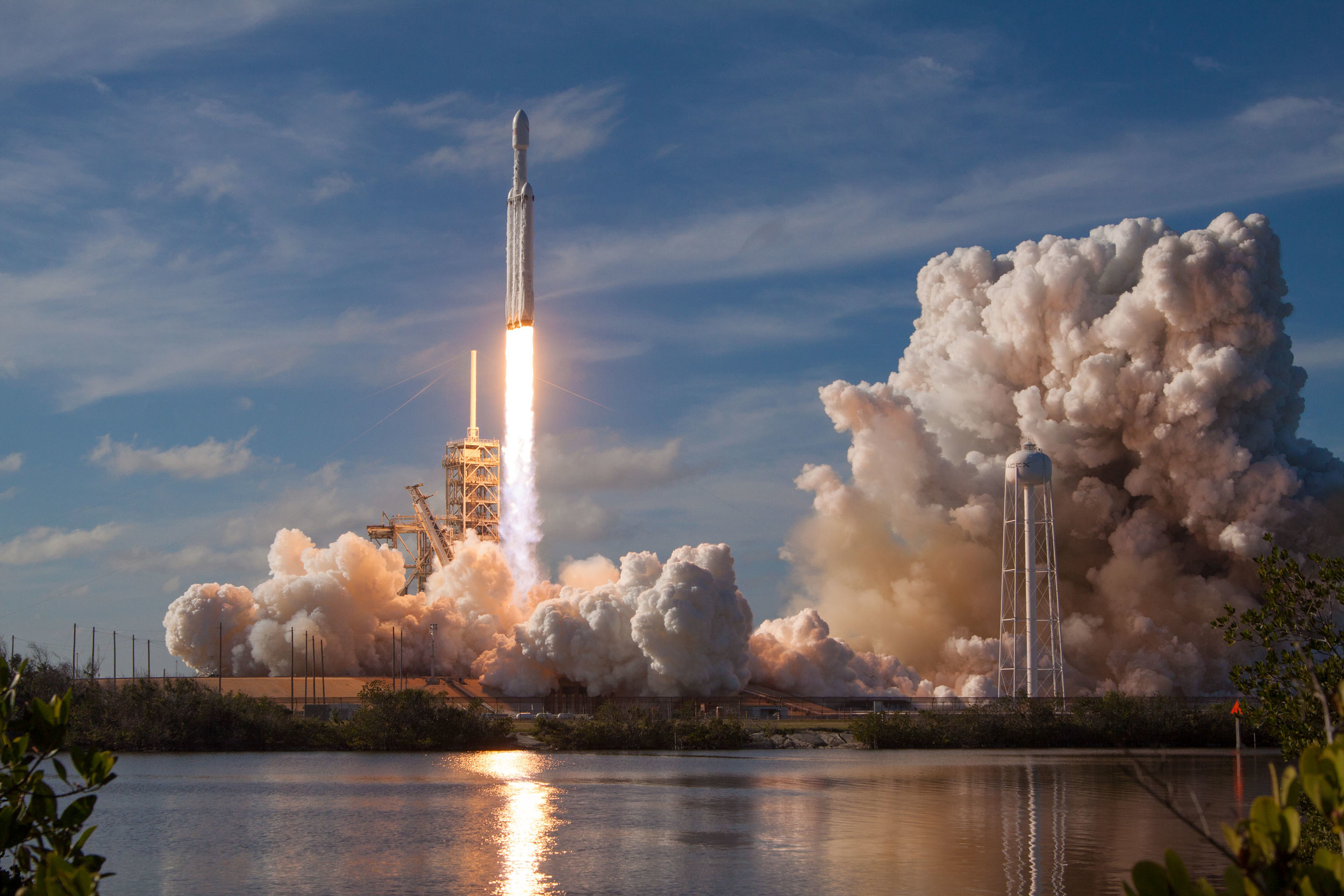 SpaceX's Big Falcon Rocket takes off to resupply the International Space Station. Photo credit: SpaceX