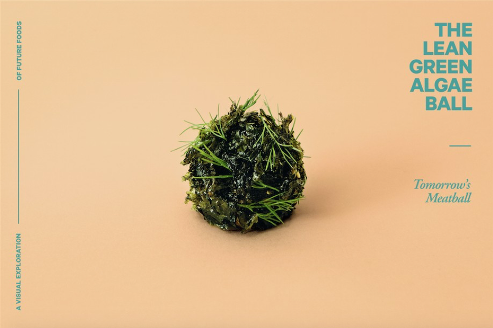 The food of the future? An artistic rendition of use of algae in nutrition. Credit: Space10