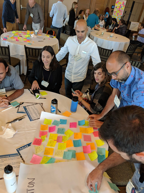 Brainstorming session. Photo by Coral Restoration Consortium.