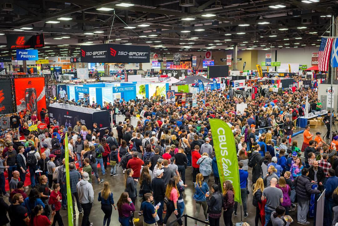 Hundreds of sports supplement vendors gather to promote their products at the Arnold Classic Sports Festival in Columbus, Ohio, highlighting their prominence in the health and fitness industry. Photo Credit: @arnoldsports
