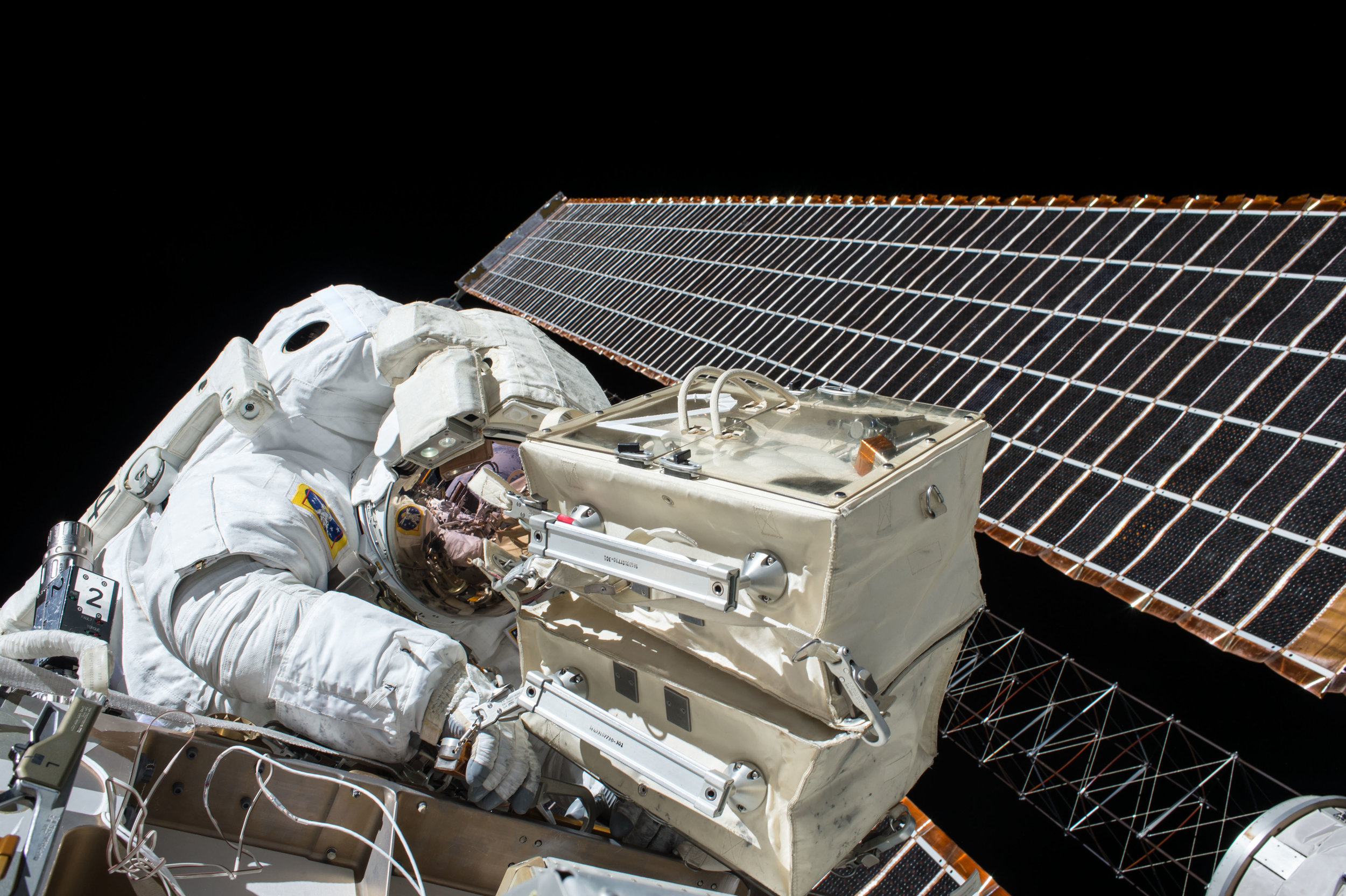 Our brave astronauts are being increasingly endangered by the man-made objects flying through space, known colloquially as space junk. Photo credit: NASA