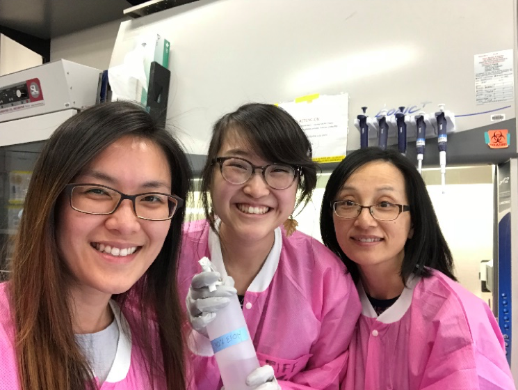 Pictured: Erica Lee, myself, and Han Gao at the PEC on my last day at Caltech.