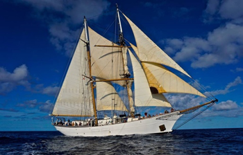 The SSV  Corwith Cramer  leads scientific expeditions throughout the world's oceans. This valuable information is recorded, analyzed, and shared to inform and educate the broader international oceanographic and scientific community. Photo credit:  Jared Moelaart