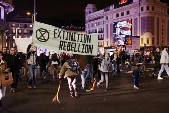 Extinction Rebellion protest in Madrid. Photo Credit: Nicolas Vigier.