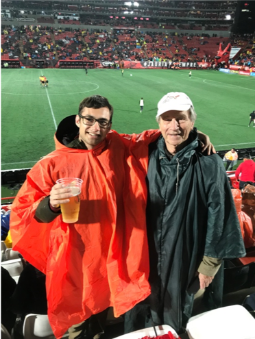 My grandfather and I enjoying some soccer in Tijuana, Mexico one weekend. After a busy week I always enjoyed playing soccer with my team and spending time with my family.