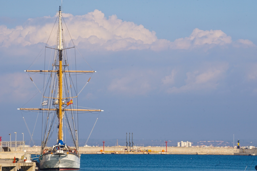 The  SSV Corwith Cramer  docked in Palma de Mallorca during a Global Ocean Program for undergraduate students. Photo credit:  Jared Moelaart