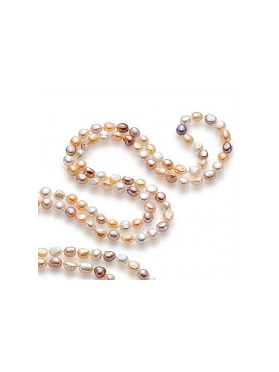 Süsswasser-Perlen - Ursprünglich wurde die Süsswasser-Perle im Biwa-See (Japan) gezüchtet. Heute wird sie hauptsächlich in den Seen und Reisfelder in China, in der Auster Hyriopsis cumingii kultiviert. Im Gegensatz zu den Meerwasser-Perlen, eine Auster kann bis zu 40 Perlen gleichzeitig produzieren. Dies macht die Süsswasser-Perle im Handel so günstig. Normalerweise kernlos, ist sie für die barocken und Keshi Formen bekannt. Nur ein kleiner Teil der Produktion ist rund. Die Süsswasser-Perle ist durch ihre Farben die von weiss bis rosa, lachsfarbig, leicht orange, lila u. violett gehen, charakterisiert. Man kann ebenfalls metallisierte Farben finden.