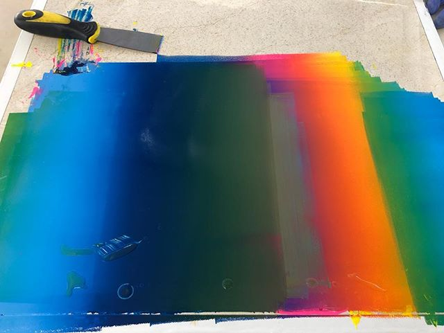 a gradient pallet from the first run on my monotype project :)