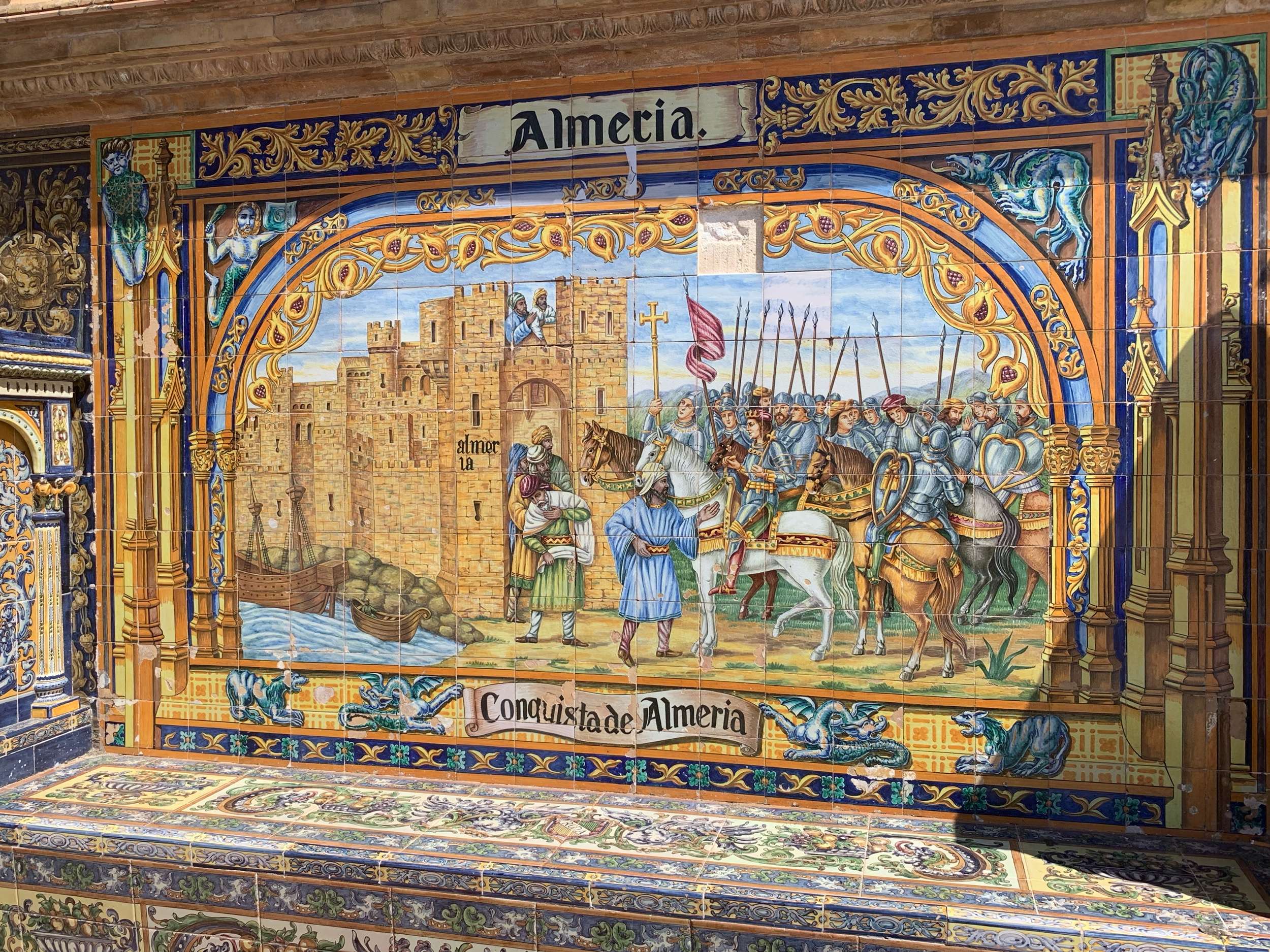 Moorish Capitulation, Plaza de Espana