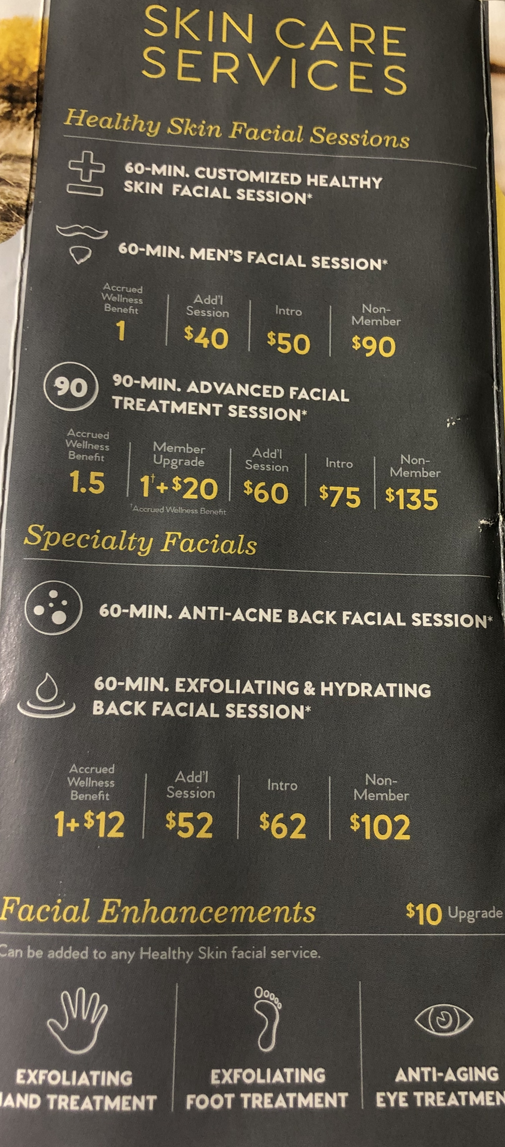Additional Facial Add On's Available